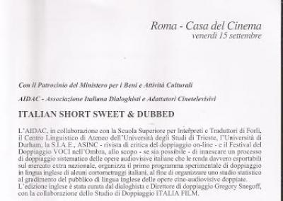 Doppiare in inglese i film italiani