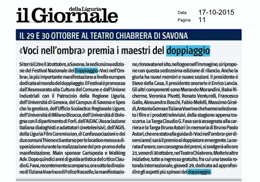 Il Giornale della Liguria | 17 ottobre