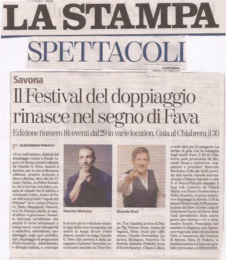 La Stampa | 17 ottobre 2015