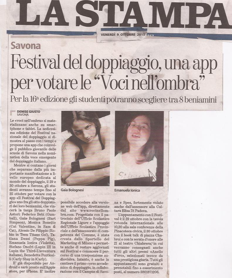 La Stampa | 9 ottobre 2015 (App)