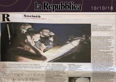 La Repubblica | mercoledì 10 ottobre 2018