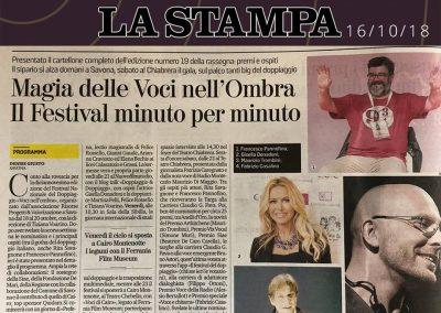 La Stampa | martedì 16 ottobre 2018