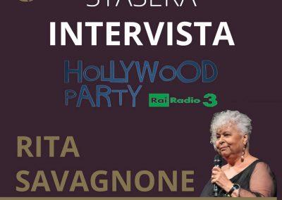 Rita Savagnone ad Hollywood Party, Radio3