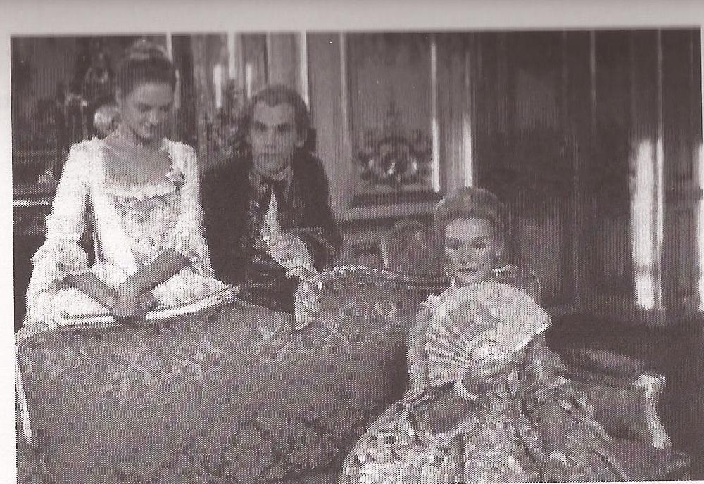 Michelle Pfeiffer, John Malkovich e Glenn Close in una scena di Le relazioni pericolose (1988) di S. Frears.