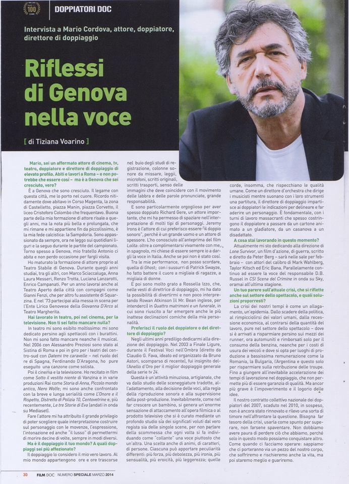 Riflessi di Genova nella voce
