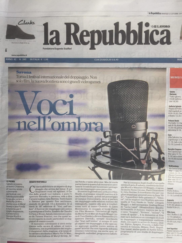 La Repubblica   martedì 17 ottobre 2017
