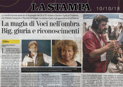 La Stampa | mercoledì 10 ottobre 2018