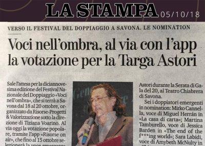 La Stampa | venerdì 5 ottobre 2018