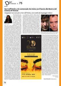 Rassegna stampa XX edizione del Festival Voci nell'Ombra