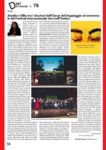 Rassegna stampa XX edizione del Festival Voci nell'Ombra 2